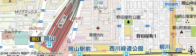 岡山県岡山市北区駅前町周辺の地図