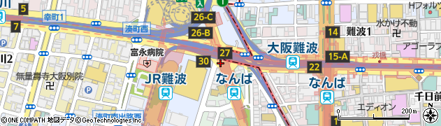 湊町南周辺の地図