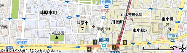 大阪府大阪市天王寺区味原町周辺の地図