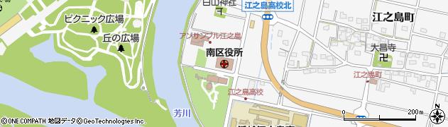 静岡県浜松市南区周辺の地図