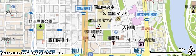 岡山県岡山市北区蕃山町周辺の地図