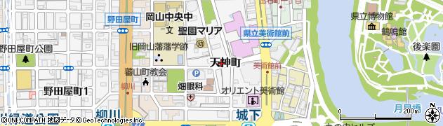 岡山県岡山市北区天神町周辺の地図