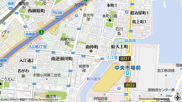 〒652-0841 兵庫県神戸市兵庫区南仲町の地図