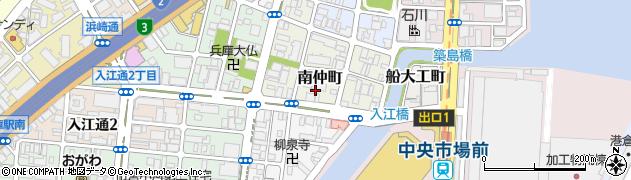 兵庫県神戸市兵庫区南仲町周辺の地図