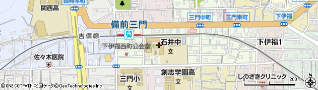 岡山県岡山市北区下伊福上町周辺の地図