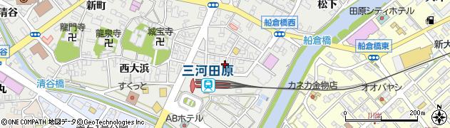 愛知県田原市田原町(東大浜)周辺の地図