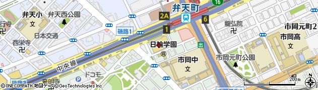 まるとみクリーニングライフ弁天町店周辺の地図