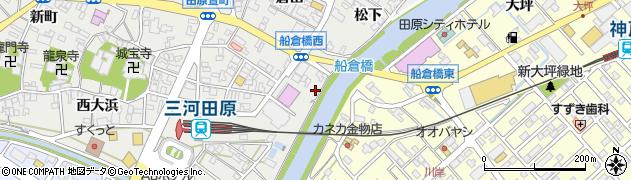 愛知県田原市田原町(橋上)周辺の地図