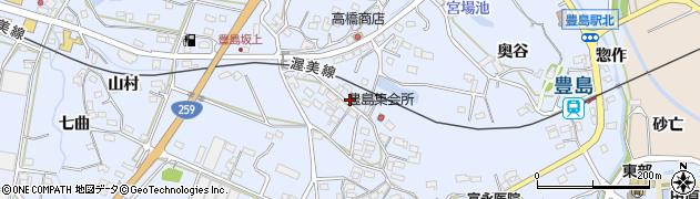 愛知県田原市豊島町(中島)周辺の地図