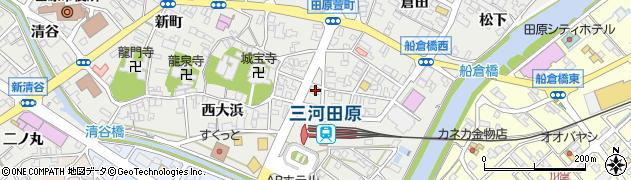 菊万予約受付周辺の地図