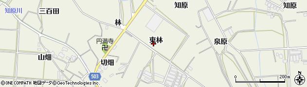 愛知県豊橋市杉山町(東林)周辺の地図