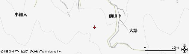 愛知県田原市仁崎町(前山)周辺の地図