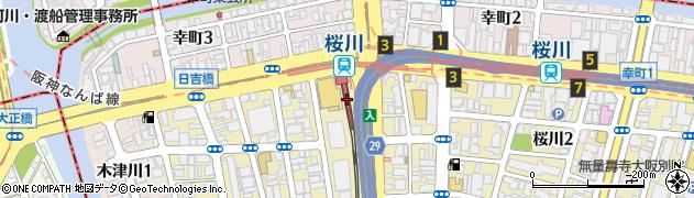 大阪府大阪市浪速区周辺の地図