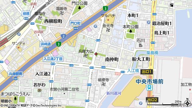 〒652-0836 兵庫県神戸市兵庫区神明町の地図