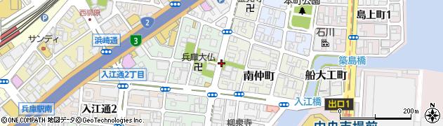 兵庫県神戸市兵庫区神明町周辺の地図