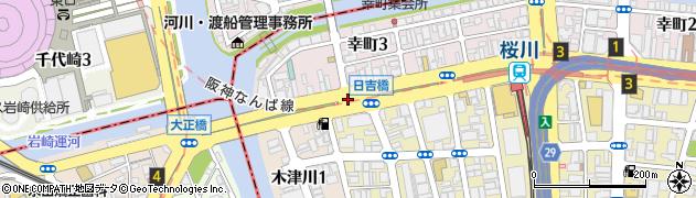 日吉橋周辺の地図