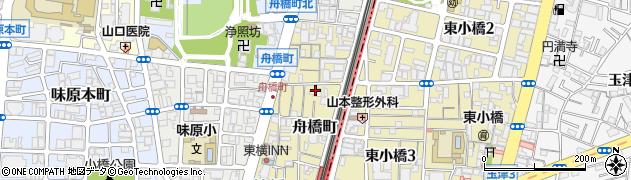 大阪府大阪市天王寺区舟橋町周辺の地図