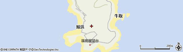 愛知県南知多町(知多郡)篠島(鯨浜)周辺の地図