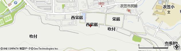 愛知県田原市田原町(西栄巌)周辺の地図