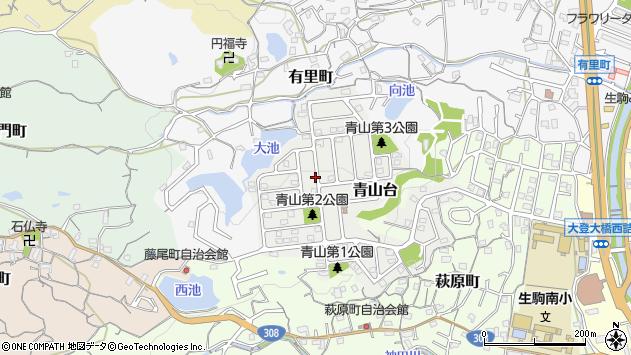 〒630-0239 奈良県生駒市青山台の地図