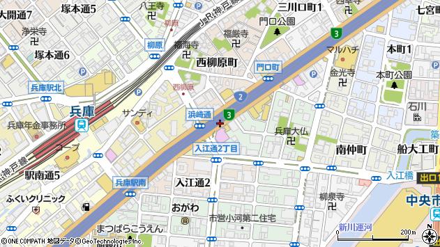 〒652-0892 兵庫県神戸市兵庫区東柳原町の地図