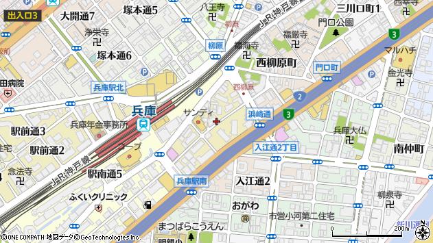 〒652-0807 兵庫県神戸市兵庫区浜崎通の地図