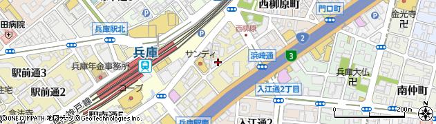 兵庫県神戸市兵庫区浜崎通周辺の地図