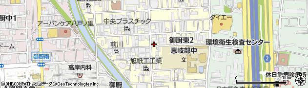 大阪府東大阪市御厨東周辺の地図