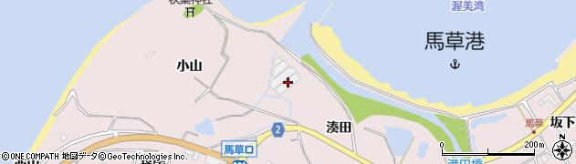 愛知県田原市野田町(湊田)周辺の地図