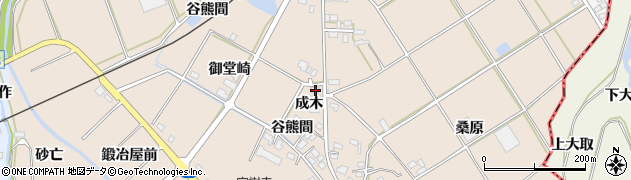 愛知県田原市谷熊町(成木)周辺の地図