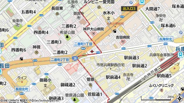 〒653-0013 兵庫県神戸市長田区一番町の地図