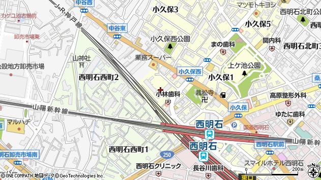 〒673-0005 兵庫県明石市小久保の地図