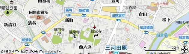 愛知県田原市田原町(稗田)周辺の地図