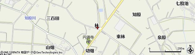 愛知県豊橋市杉山町(林)周辺の地図