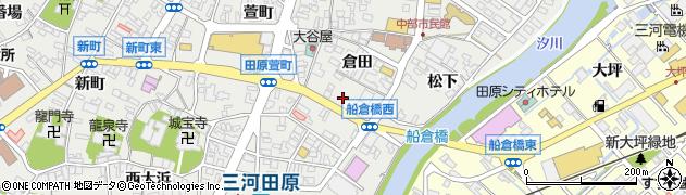 愛知県田原市田原町(柳町)周辺の地図