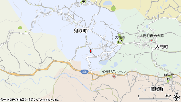 〒630-0237 奈良県生駒市鬼取町の地図