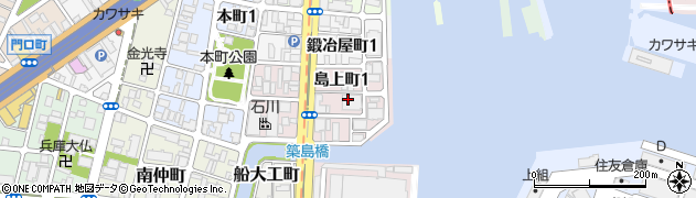 兵庫県神戸市兵庫区島上町周辺の地図