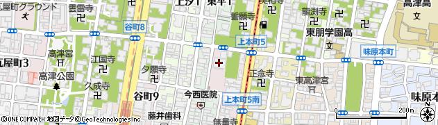 タワーザ上町台周辺の地図