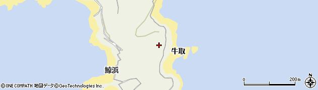 愛知県南知多町(知多郡)篠島(牛取)周辺の地図