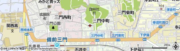 岡山県岡山市北区三門中町周辺の地図