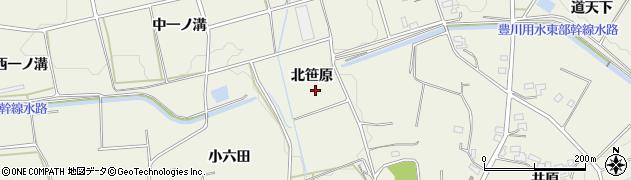 愛知県豊橋市高塚町(北笹原)周辺の地図