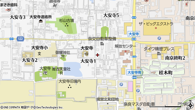 〒630-8133 奈良県奈良市大安寺の地図