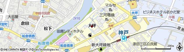 愛知県田原市神戸町(大坪)周辺の地図