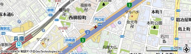 門口町周辺の地図