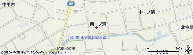 愛知県豊橋市高塚町(西一ノ溝)周辺の地図