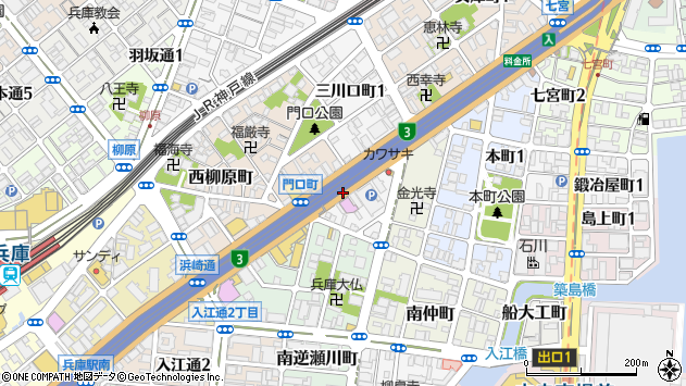 〒652-0891 兵庫県神戸市兵庫区西宮内町の地図