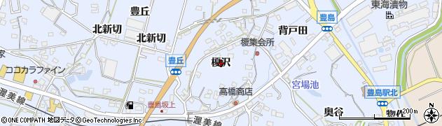 愛知県田原市豊島町(榎沢)周辺の地図