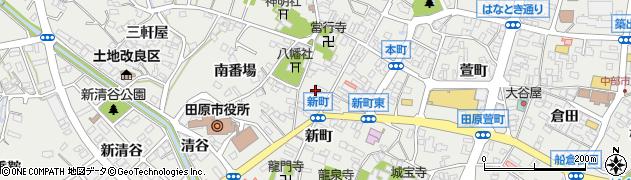 愛知県田原市田原町周辺の地図