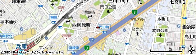 兵庫県神戸市兵庫区門口町周辺の地図