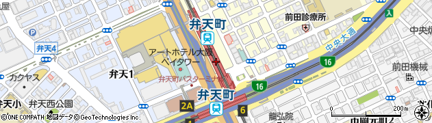 大阪府大阪市港区周辺の地図
